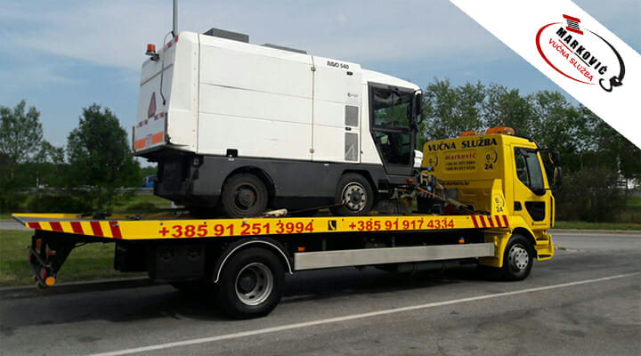 Vučna služba Marković prikaz prijevoza vozila